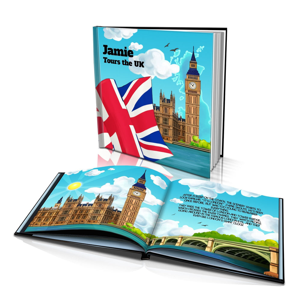 Large Hard Cover Story Book - Tours the UK