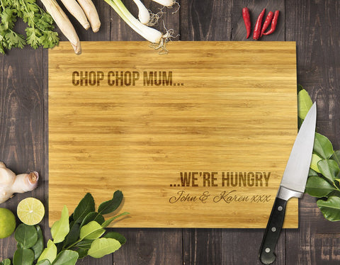 "Chop Chop Mum Bamboo Cutting Board 12x16"" (Temporary Out of Stock)"