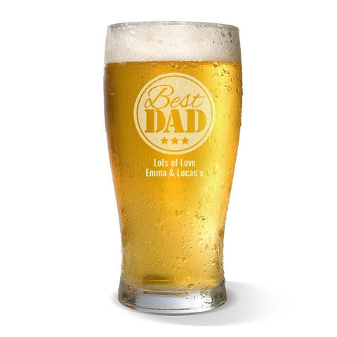 Best Dad Standard 285ml Beer Glass
