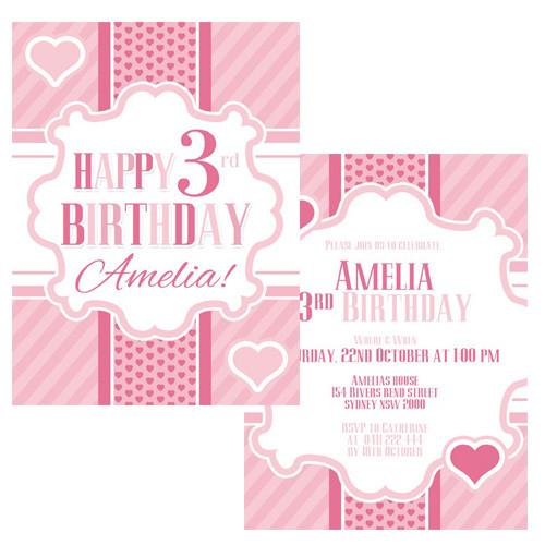 Pink Party Invitation