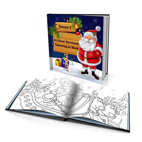 All About Christmas Volume 2 Hard Cover Colouring Book