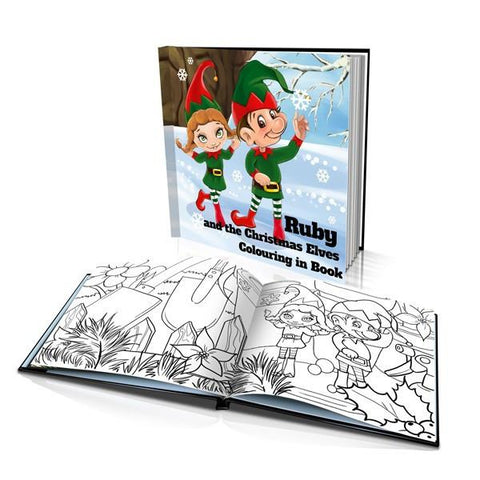 The Christmas Elves Hard Cover Colouring Book