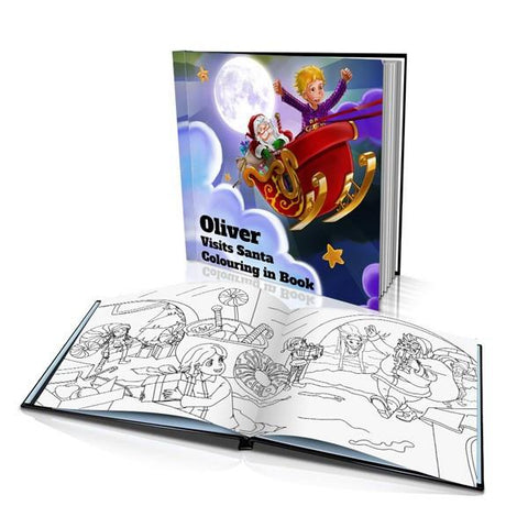 Visiting Santa Hard Cover Colouring Book