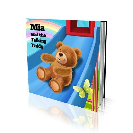 Large Soft Cover Story Book - The Talking Teddy