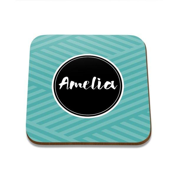 Name Square Coaster - Single