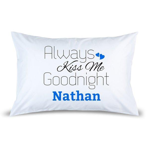 Blue Kiss Pillow Case
