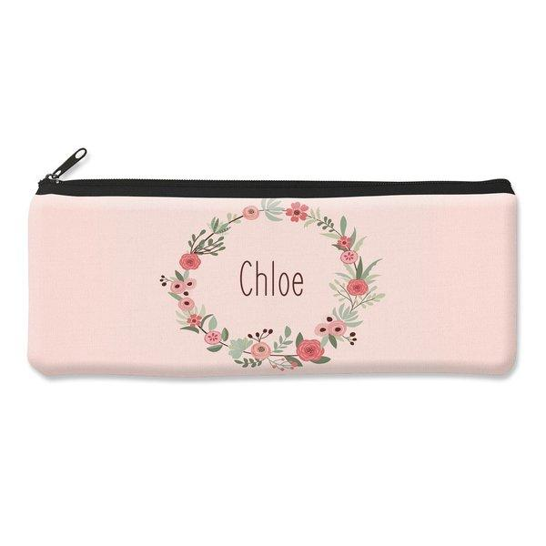 Flower Wreath Pencil Case - Large