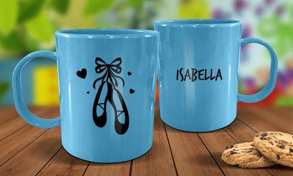 Ballet Shoes Plastic Mug - Blue