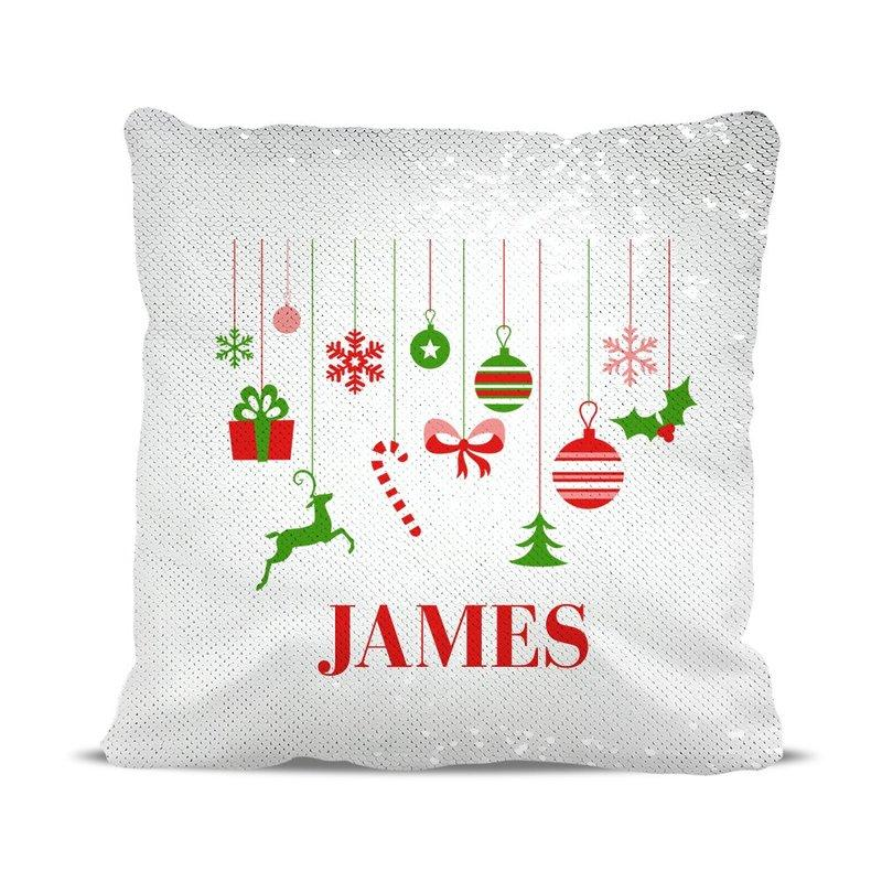 Hanging Ornaments Sequin Cushion Cover