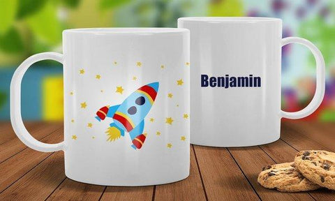 Rocket White Plastic Mug