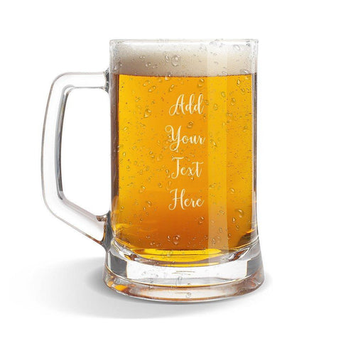 Add Your Own Message Glass Beer Mug