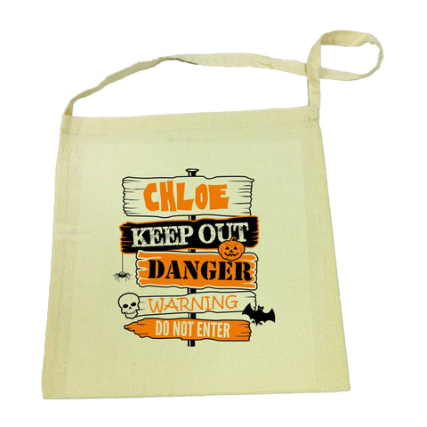 Halloween Keep Out Tote Bag