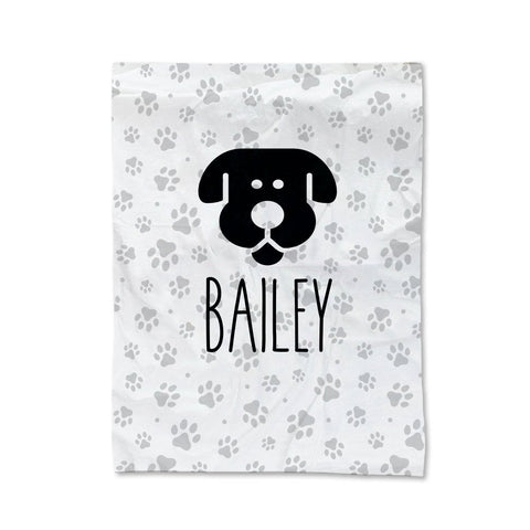 Paw Prints - Dog Pet Blanket - Small