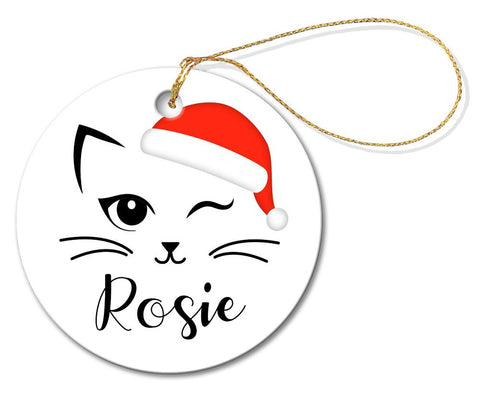 Rosie Round Porcelain Ornament