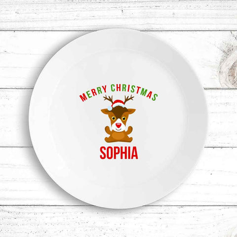 Cute Reindeer Kids Plate