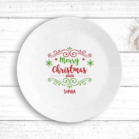 Merry Christmas Kids Plate