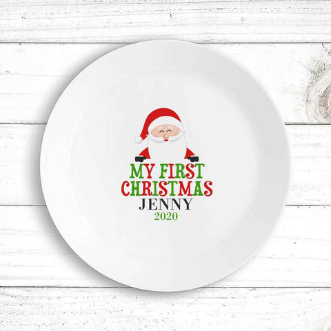 My First  Christmas Kids Plate