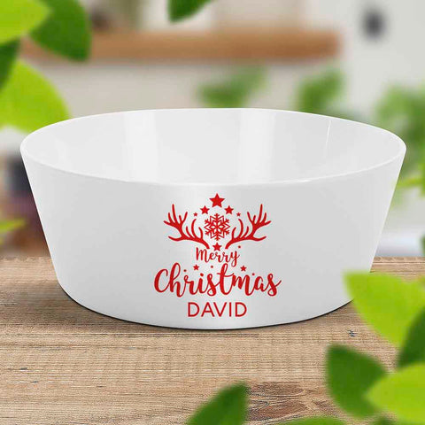 Antler Christmas Kids Bowl