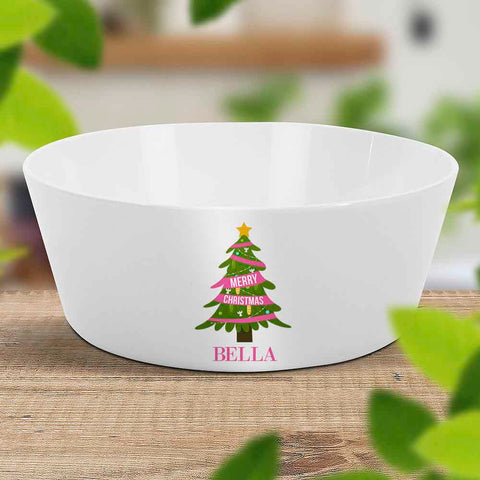 Pink Christmas Kids Bowl