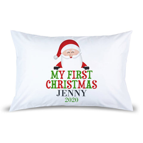 My First Christmas Pillow Case