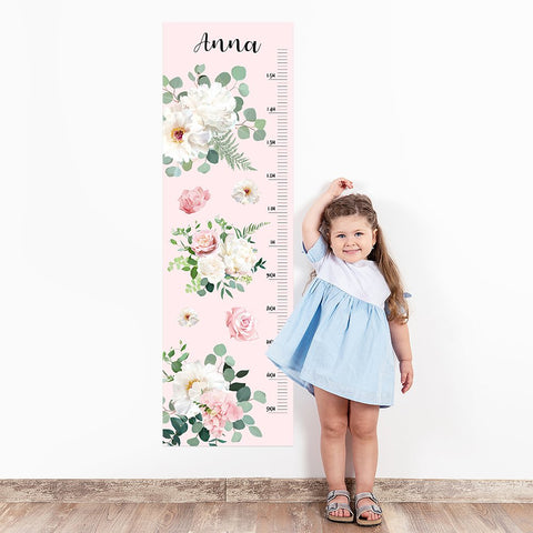Flowers Wall Decal Height Chart