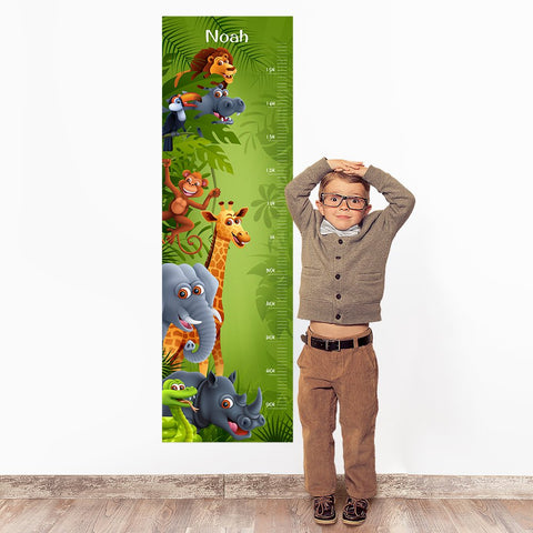 Jungle Wall Decal Height Chart