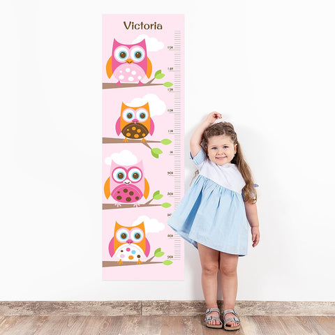 Owl Wall Decal Height Chart