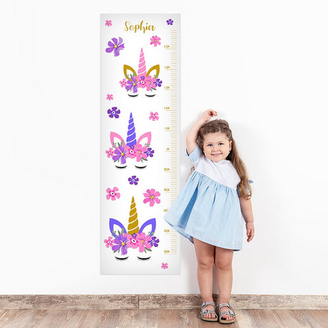 Unicorn Wall Decal Height Chart