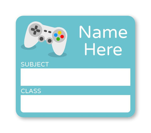 Gaming - School Book Label