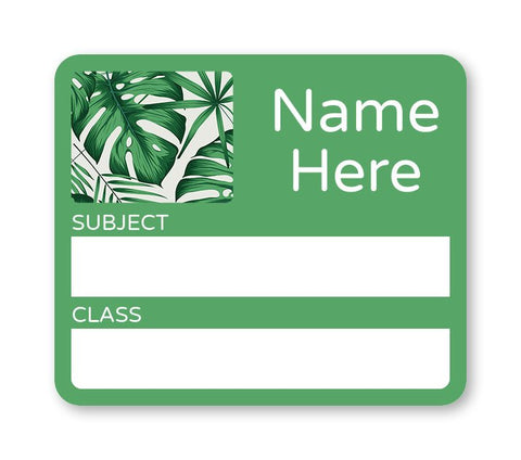 Leaves - School Book Label