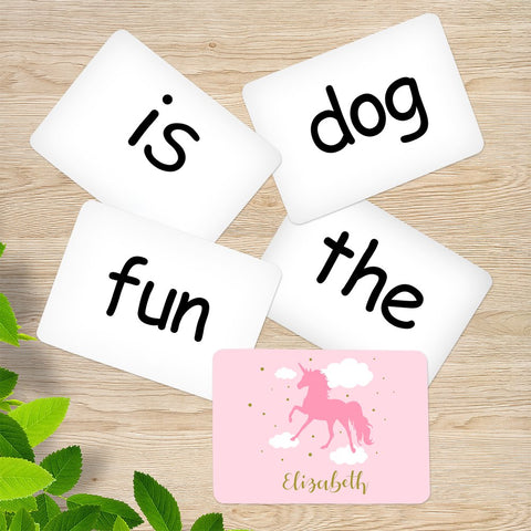 Pink Unicorn Memory Game Sight Words