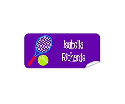 Tennis Rectangle Labels 42pk