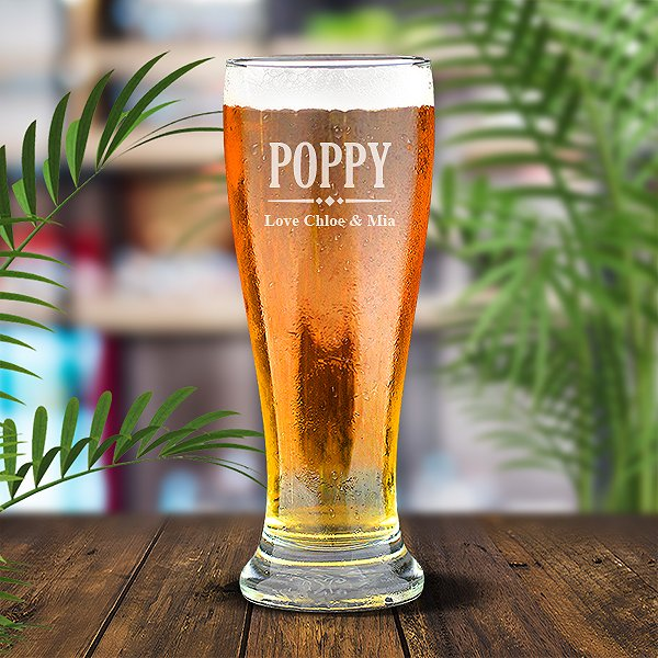 Poppy Premium 425ml Beer Glass