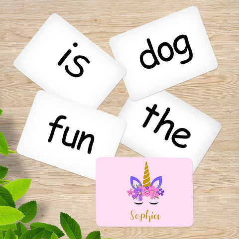 Unicorn Memory Game Sight Words