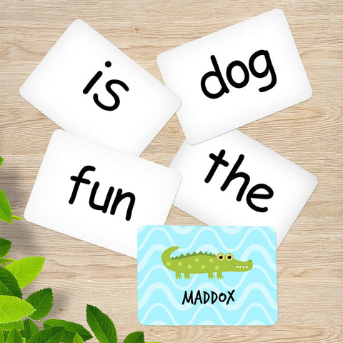 Crocodile Memory Game Sight Words