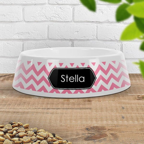 Chevron Pet Bowl - Large (Temporary Out of Stock)
