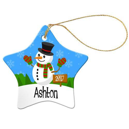 Snowman Star Decoration