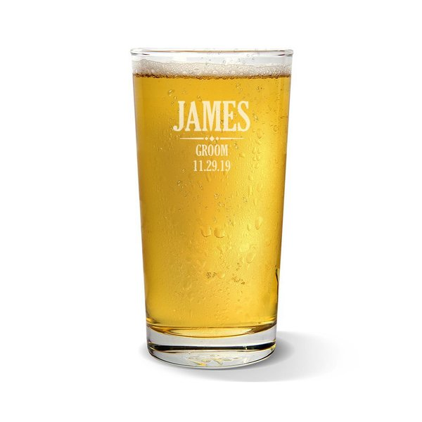Groom Pint Glass
