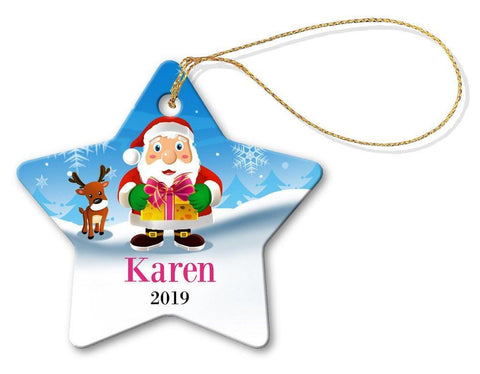 Santa Gift Star Decoration