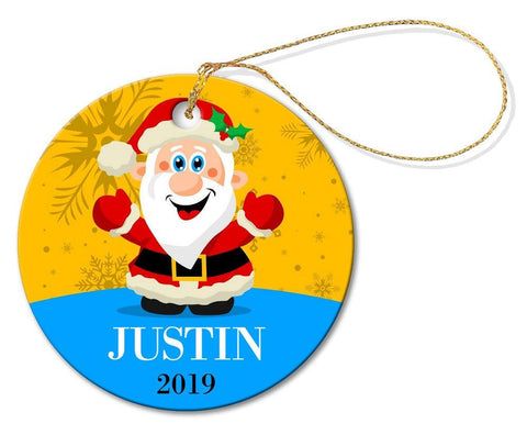Santa Round Decoration