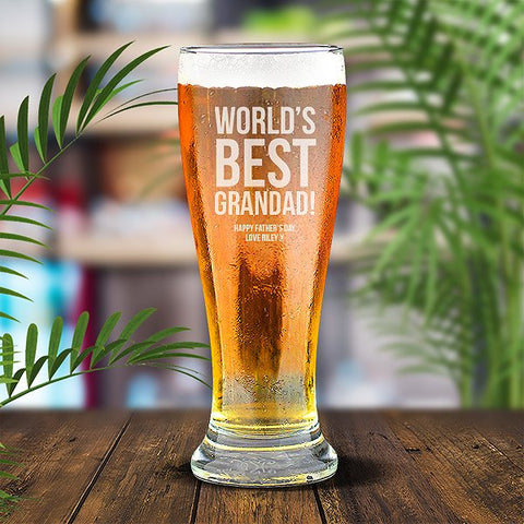 Best Grandad Premium 285ml Beer Glass