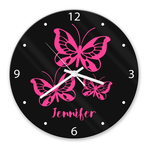 Butterflies Glass Clock (Temporarily Out of Stock)