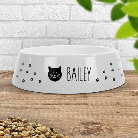 Paw Prints Cat Pet Bowl - Large (Temporary Out of Stock)