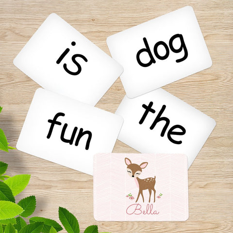 Cute Deer Memory Game Sight Words