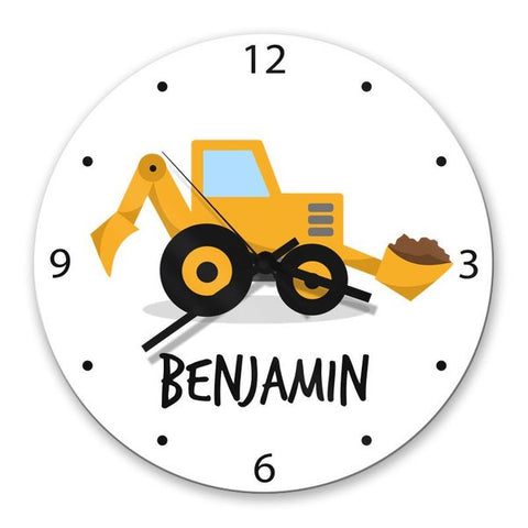 Little Digger Glass Clock