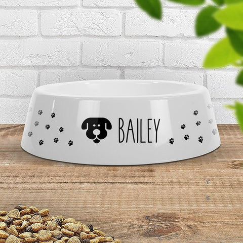 Paw Prints Dog Pet Bowl - Large (Temporary Out of Stock)