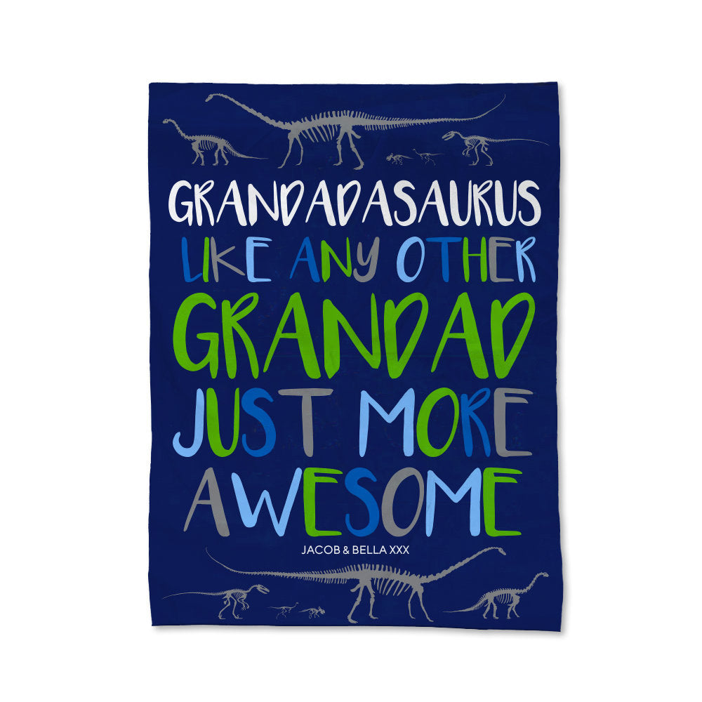 Grandadasaurus Blanket - Large (Temporary Out of Stock)
