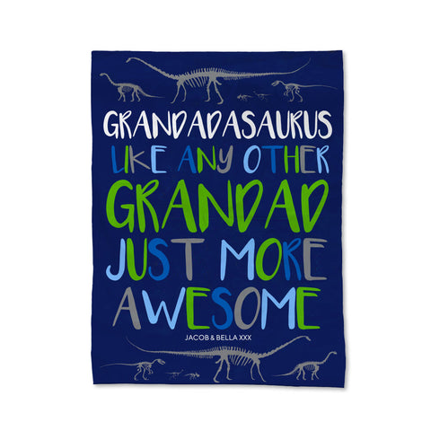 Grandadasaurus Blanket - Medium