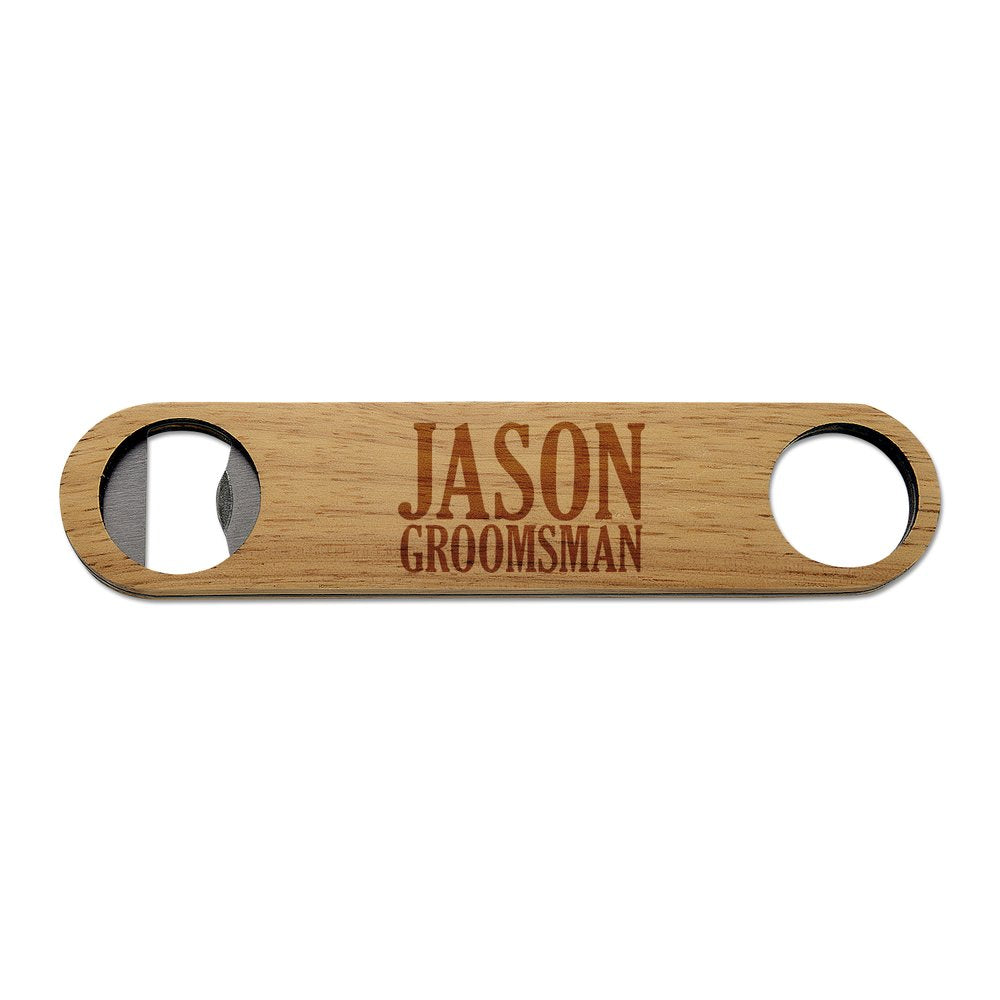 Groomsman Wooden Bottle Opener