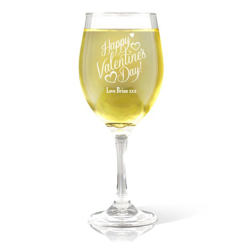 Happy Valentine's Day Wine Glass